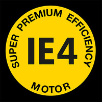 Logo del motore IE4 super premium efficiency